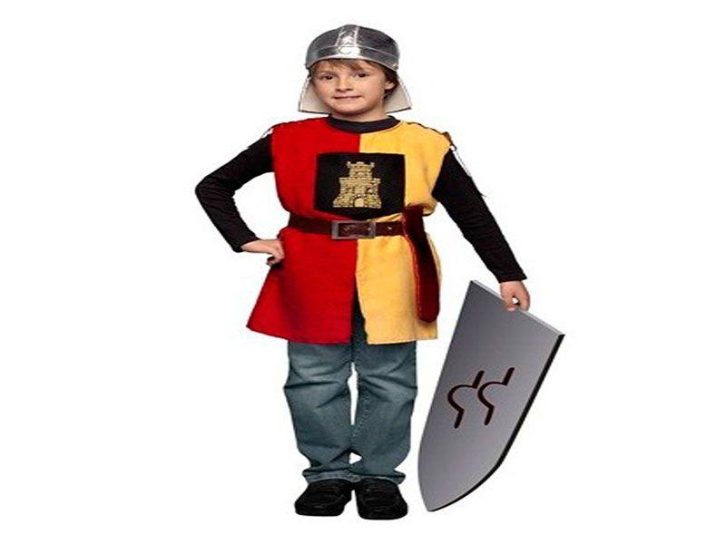 Disfraz soldado medieval niño 4 piezas 7/9 años