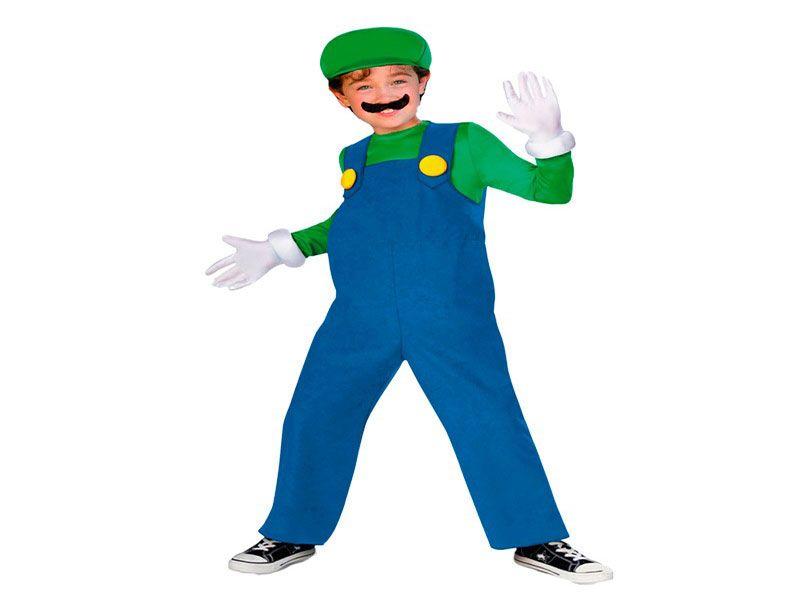 Disfraz de Luigi 4 piezas 7/10 años