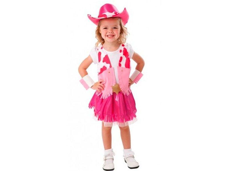 super economico Disfraz de Vaquera rosa con sombrero incluido para ...
