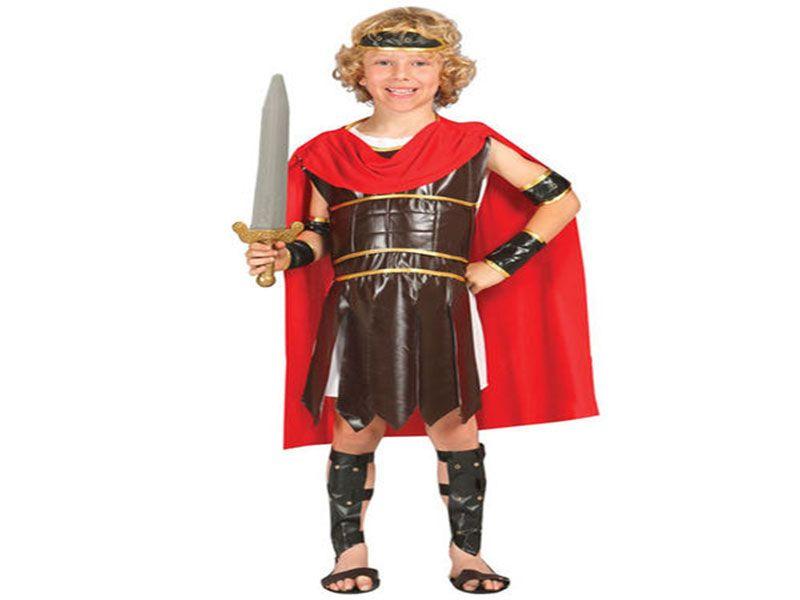Disfraz guerrero romano niño 5 piezas 10/12 años