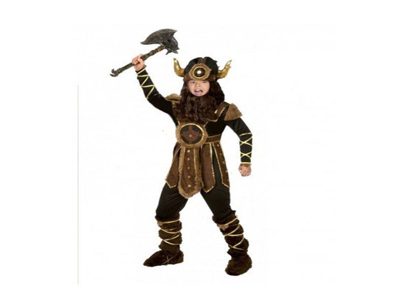 Disfraz vikingo niño 4 piezas 7/10 años