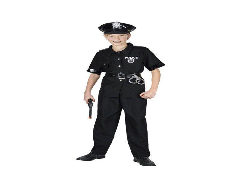 Disfraz de policía niño 3 piezas 10/12 años