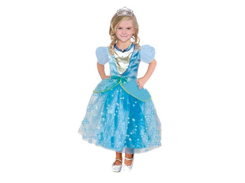 ab63ed55f Disfraz Princesa la cenicienta Azul para niña de 7 a 9 años para Carnaval