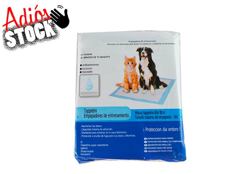 10 unidades de empapadores para mascotas 60 cm x 90 cm eliminan olores