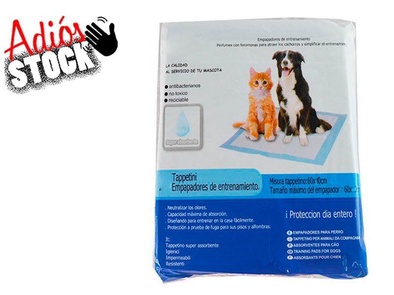 Empapadores para perros y gatos elimina olores 60x60cm pack de 10 unidades