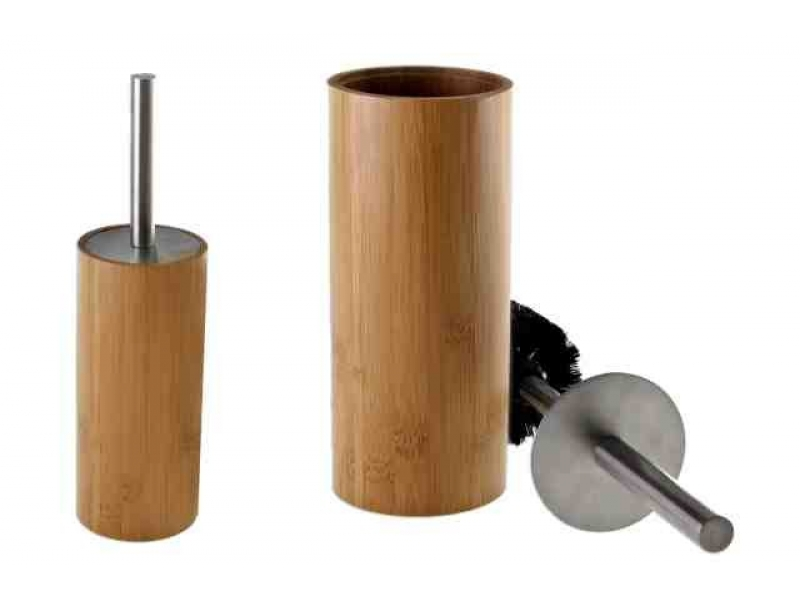 Escobillero de bamb for Accesorios bano bambu