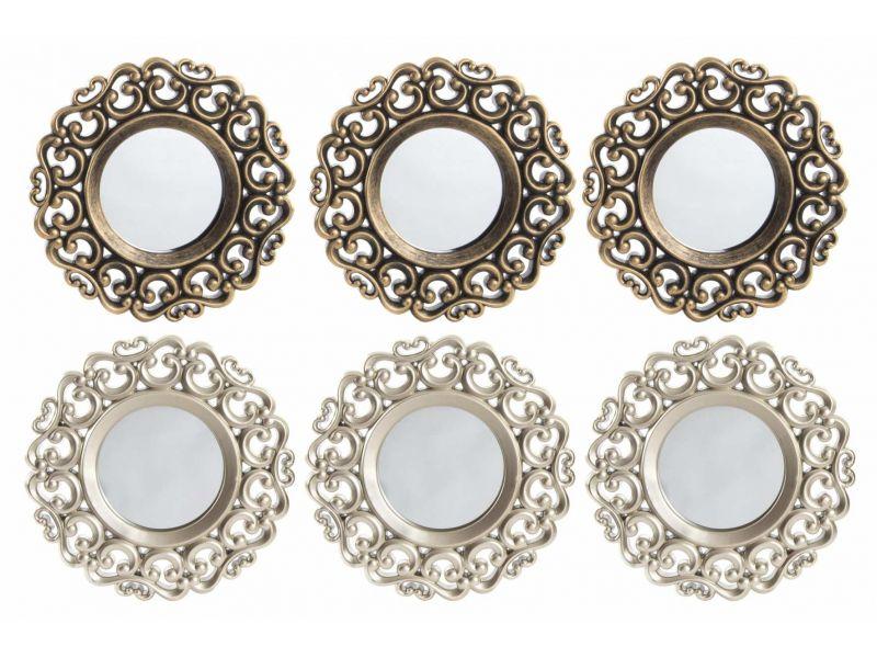Set de 3 espejos de pared barroco