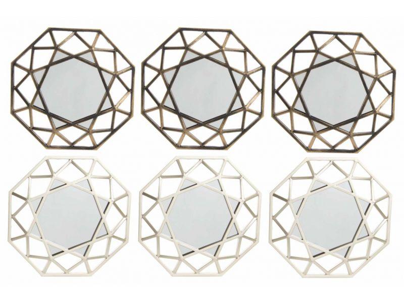 Set de 3 espejo de pared scandi 2 colores