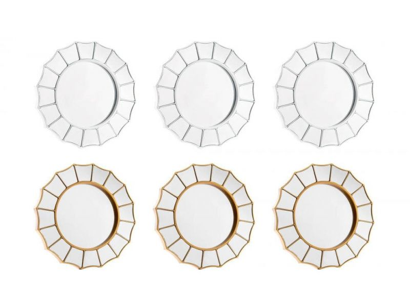 Set de 3 espejos para pared polipropileno 2 colores