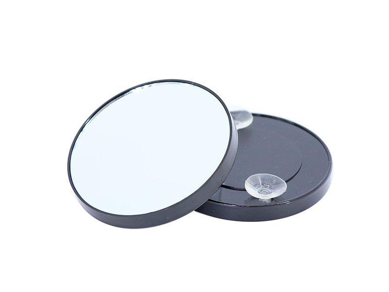 Espejo de aumento de bolsillo con ventosa color negro y for Espejo 20 aumentos