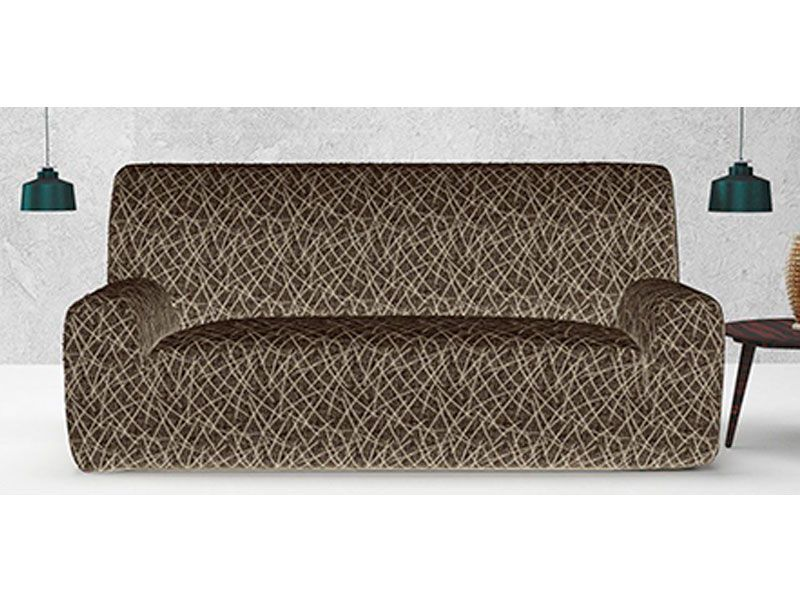 cubierta para sillón o funda ajustable padua color negro para sofá diferentes tamaños