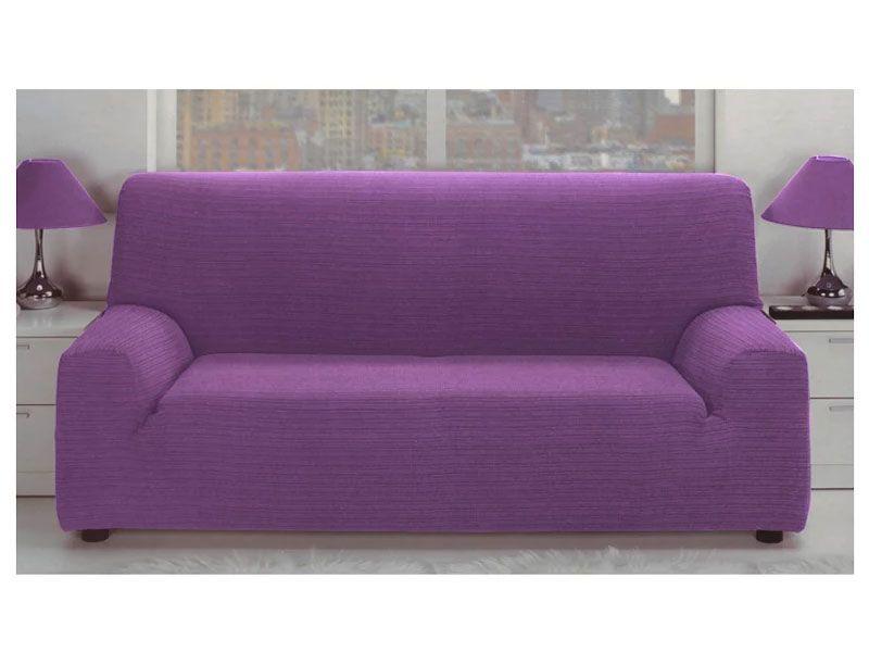 Fundas para sof el stica jacquard color malva con tejido - Tejidos para sofas ...