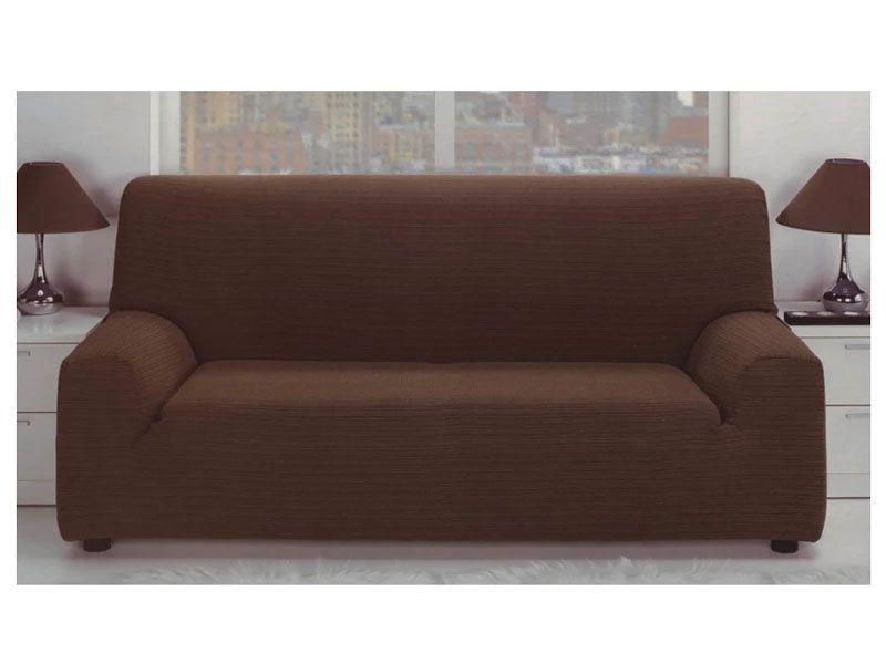 Fundas para sofá elástica jacquard color malva con tejido rústico para 1,2,3 o 4 plazas