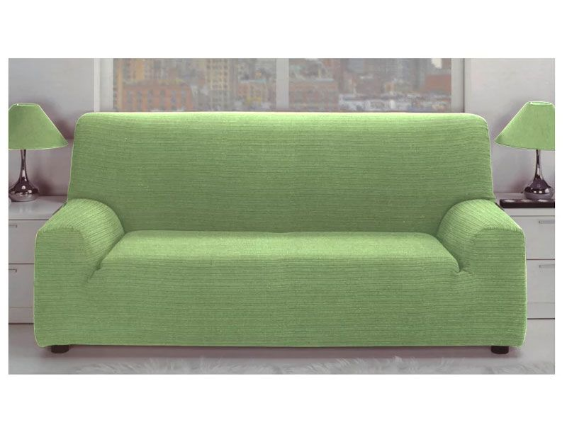 Fundas para sof color verde el stica jacquard con tejido - Fundas elasticas para sofa ...