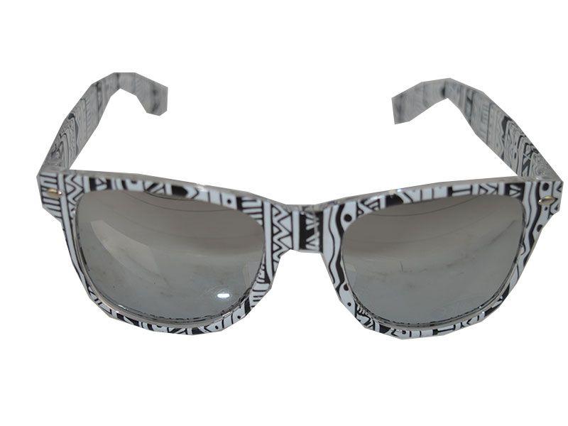 gafas de sol étnicas blanco y negro