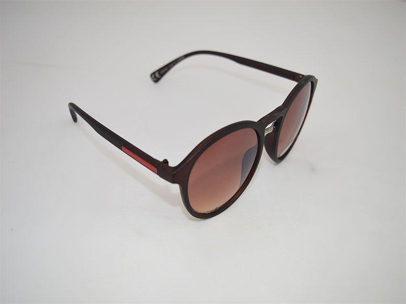 ee1a6826ae Gafas de sol mujer redondas con montura gruesa lentes marrones