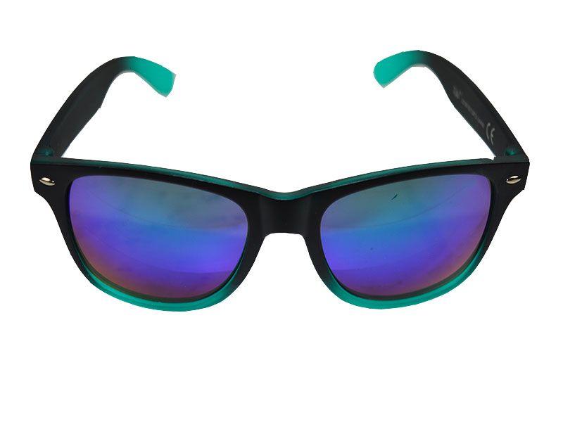 gafas de sol negras y azules