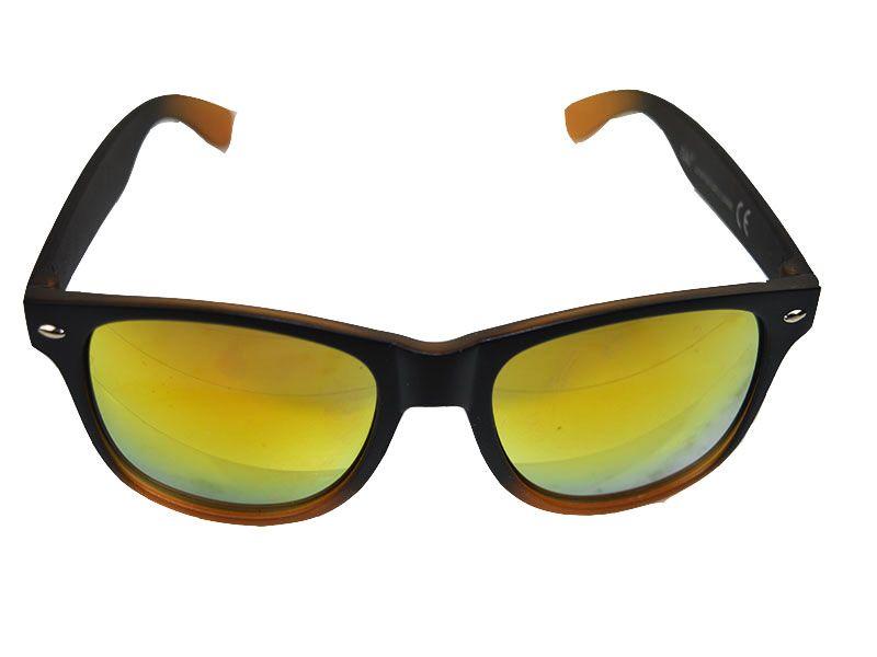 Gafas de sol polarizadas detalles marrones y lentes naranjas 2075438acbeb
