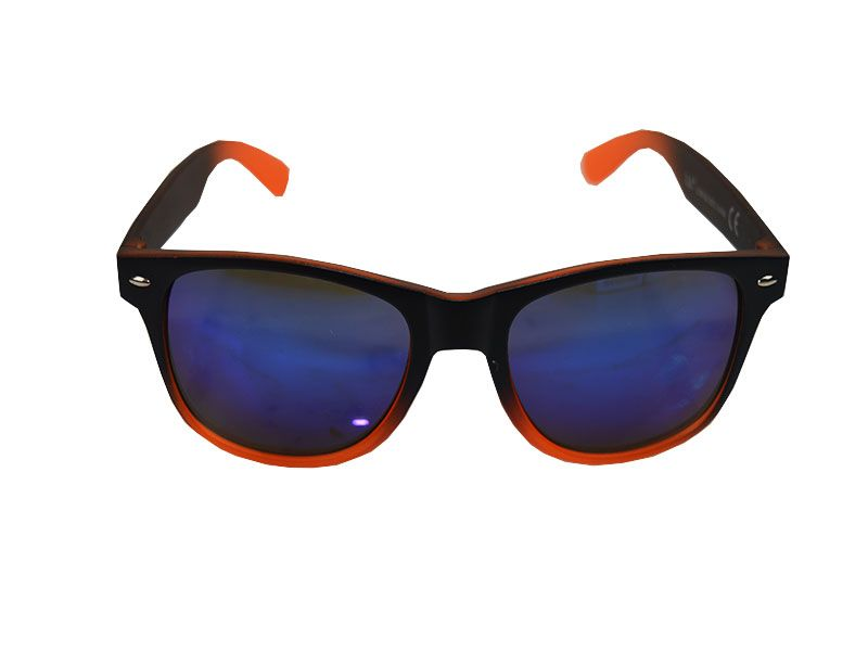 Gafas de sol polarizadas detalles naranjas y lentes azules 740deb545f83