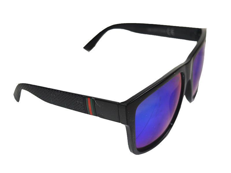 7334ef6c7a Gafas de sol montura gruesa lentes azules y reflejos verdes
