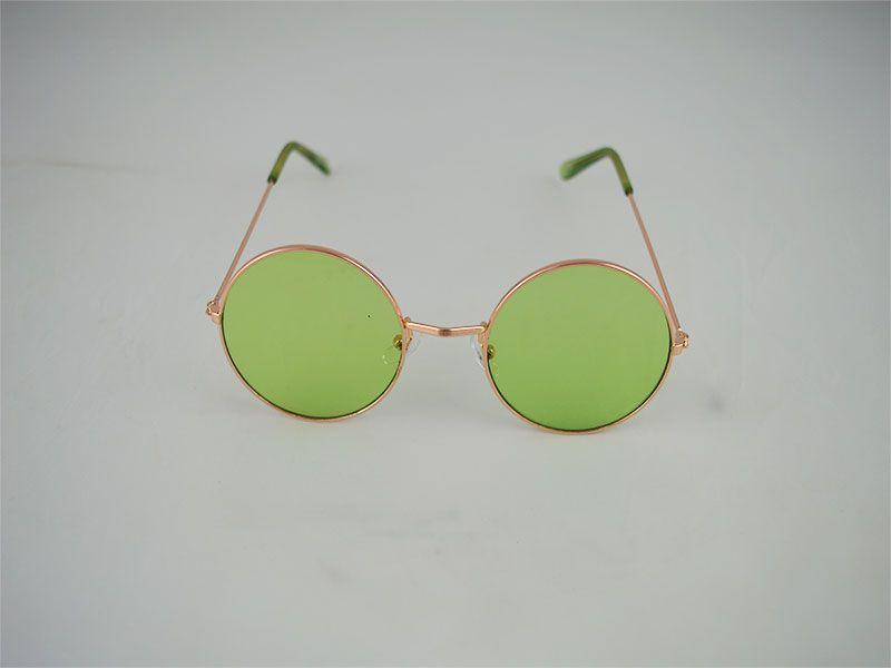 Gafas de sol redondas con fina montura lentes verdes b7ddf1fa81cc