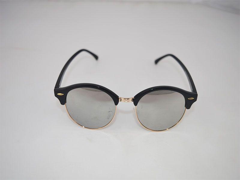 addd98f3b8 Gafas de sol redondas con montura superior gruesa y lentes grises