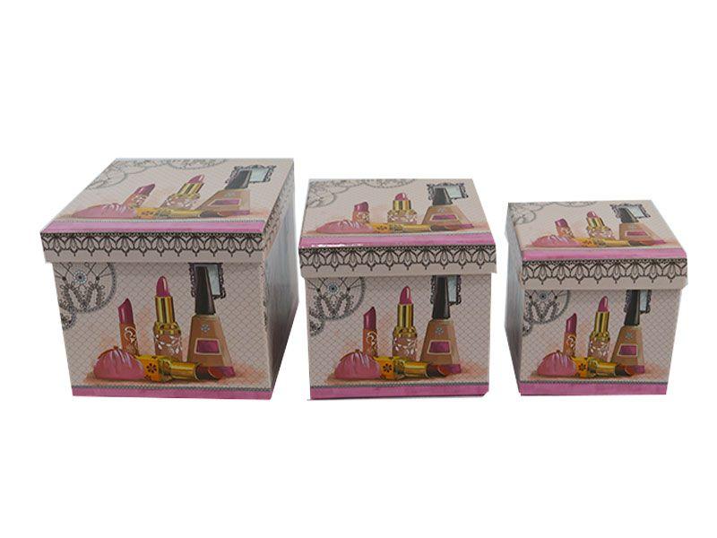Set de 3 caja de cart n para regalos decoradas con taxis - Donde venden cajas de carton ...