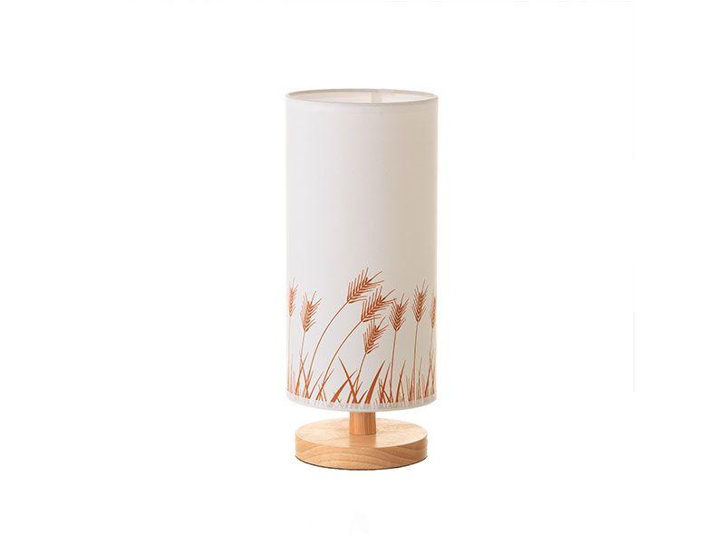 0098e1b53038 Lámpara de mesa madera y caucho con diseño en la tulipa de Espigas de trigo  35 cm