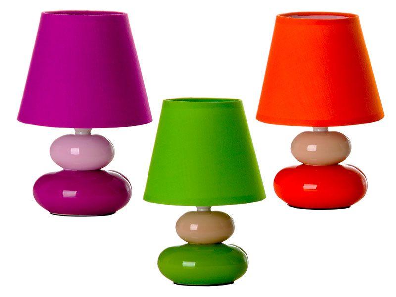 realizadas o cómodas piedra en diferentes tres noches forma de disponibles mesitas colores en con cerámica Lámpara de para con base cS3Aj4RLq5