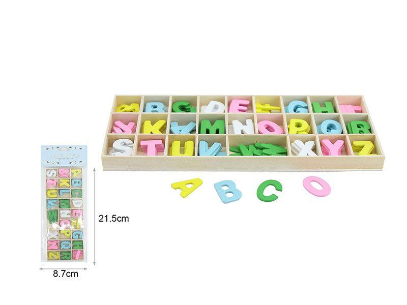 Paquetes de letras de madera de colores abecedario completo