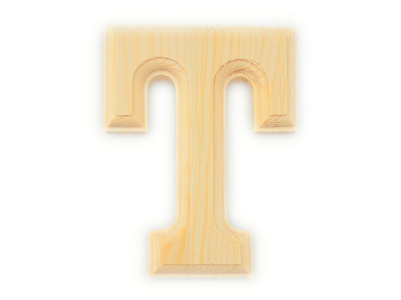 Elegante letra h del abecedario castellano realizada en - Letras de madera para decorar ...