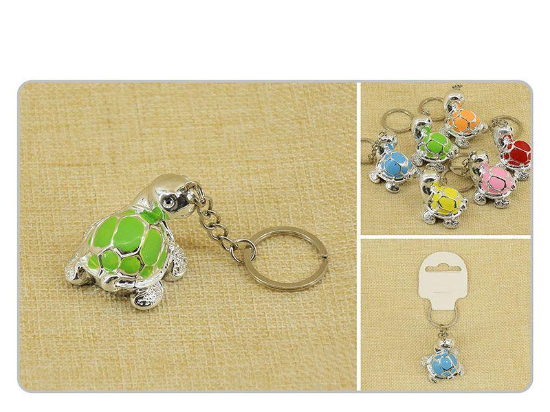Mini llaveros de tortugas en distintos colores