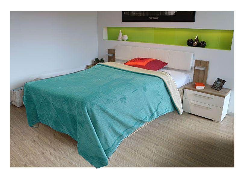 Sabana o manta multiuso 155 x 130 cm color turquesa y realizada 100% en poliéster de primera calidad