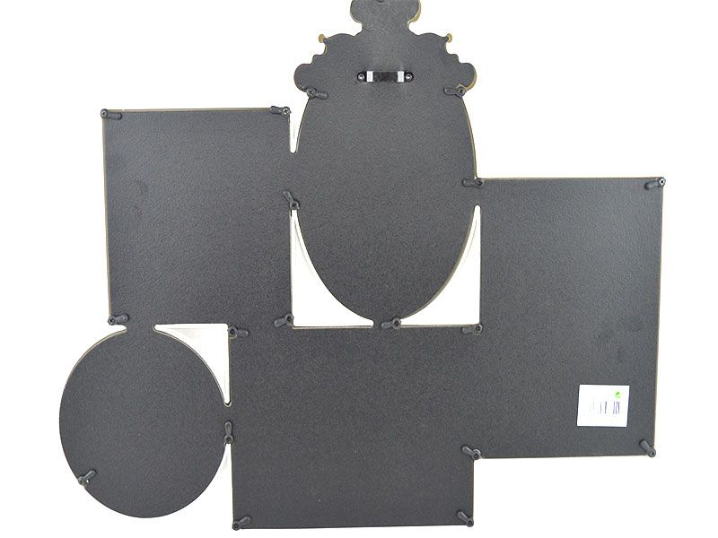 Portafotos multiple para pared con 5 marcos en uno de pvc blanco ...