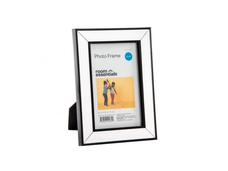 Marco de Foto Cristal Espejo Negro 10×15