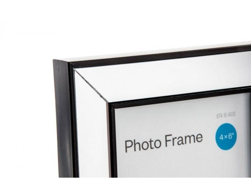 Marco de foto cristal espejo negro 10 15 - Marcos de cristal ...
