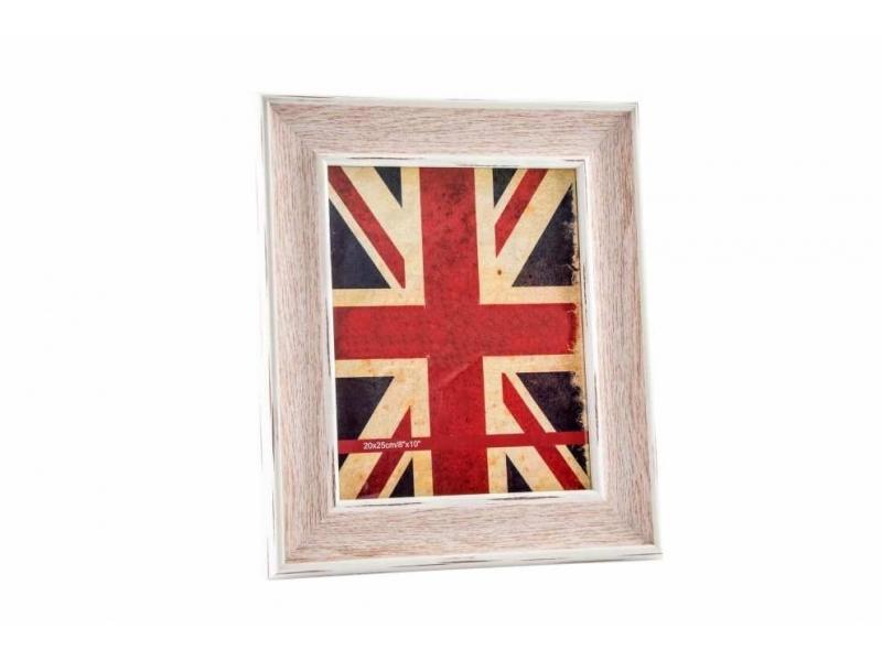 Marco de Foto de Madera Cristal Bandera Inglaterra 20×25