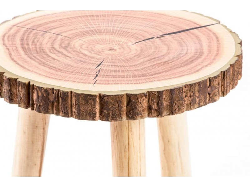 Mesa auxiliar de madera tronco 30 32 - Mesas de troncos de madera ...