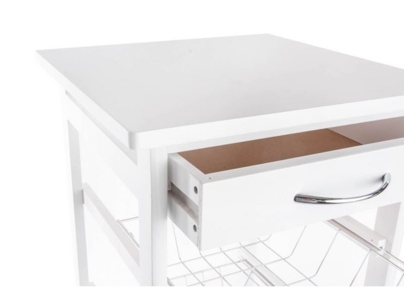 Mueble cocina madera blanco 1 caj n y 3 cestas - Mueble cocina blanco ...