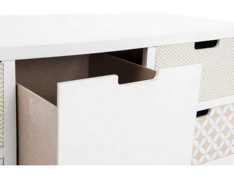 Mueble para tv de madera natural 5 cajones - Muebles en madera natural ...