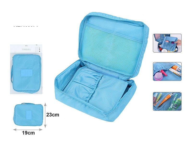 Neceser turquesa de viaje para productos o accesorio de for Kit accesorios para bano