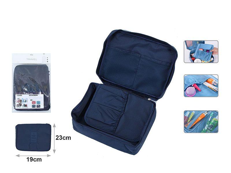 Neceser azul marino de viaje para productos o accesorio de for Kit accesorios para bano
