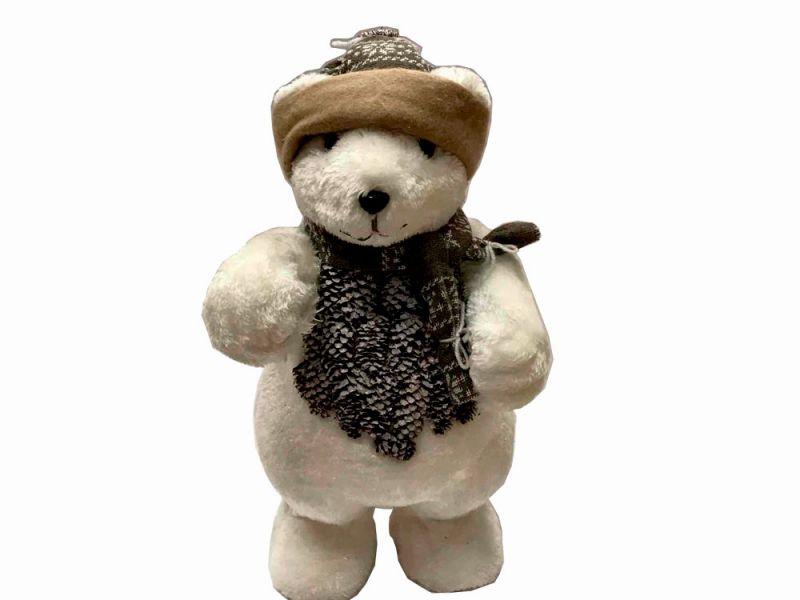 Peluche oso polar navideño 22 cm x 18 cm x 42 cm