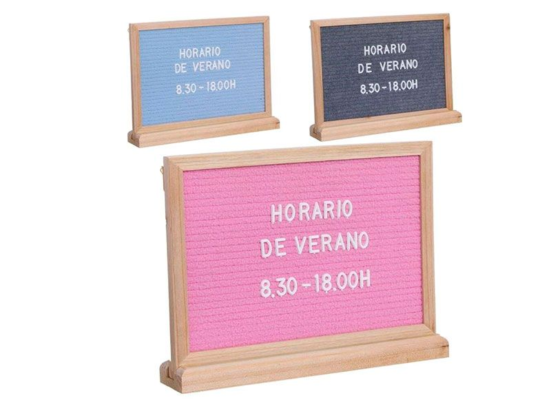 Panel de sobremesa con letras intercambiables 3 colores