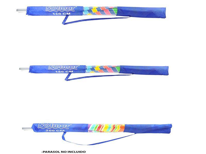 Funda parasol nylon azul 3 tamaños