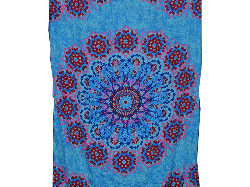Pareo toalla estilo mandala color azul cielo