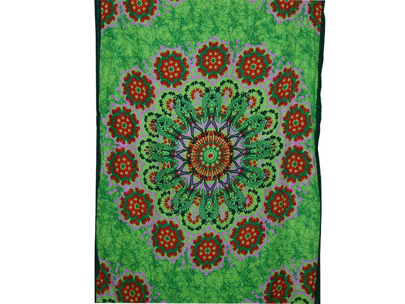 Pareo toalla estilo mandala color verde