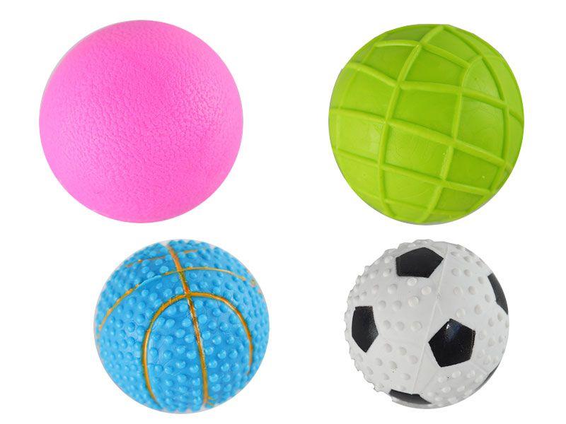 Pelotas de goma dura de 6.5 cm diámetro disponibles en cuatro colores