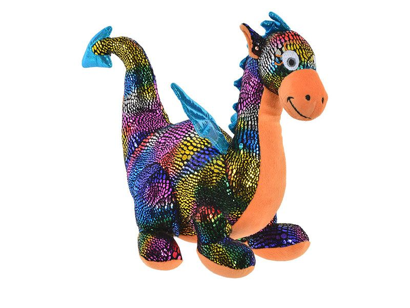 Peluche de poliester dragon multicolor brillante