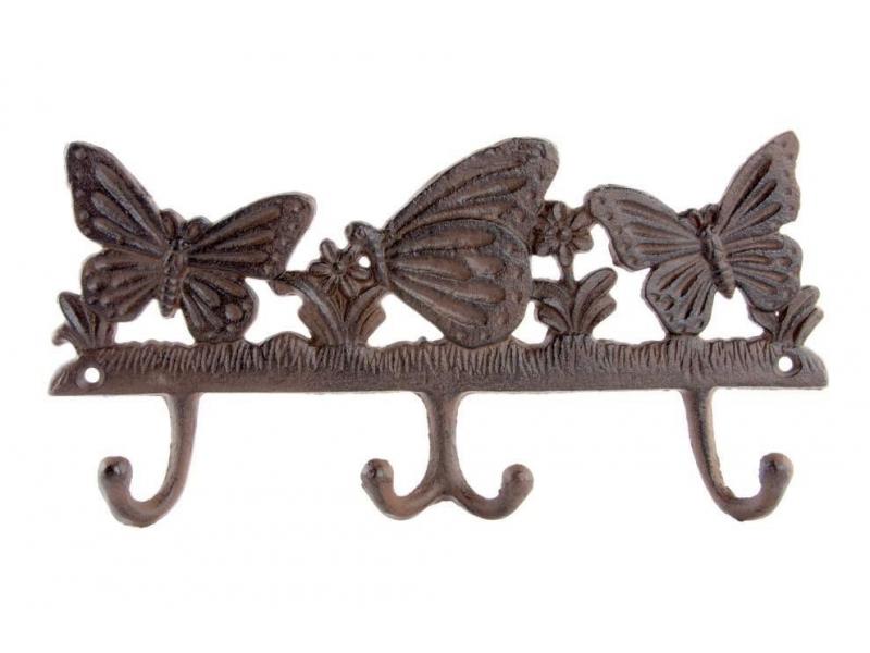 Perchero de hierro colado mariposa 28 5x3x14 for Hierro colado